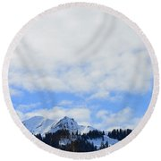 Sky Is The Limit Round Beach Towel