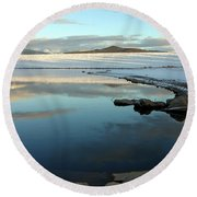 Sky Lake Round Beach Towel