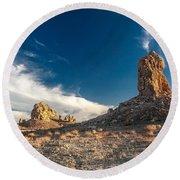 Sky Masters - Trona Pinnacles Round Beach Towel
