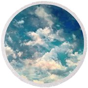 Sky Moods - Refreshing Round Beach Towel