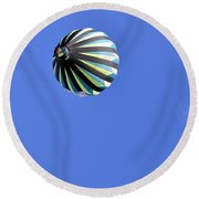 Sky Moon And Balloon Round Beach Towel