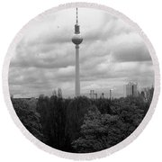Sky Over Berlin Round Beach Towel