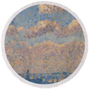 Sky Over The City Round Beach Towel