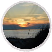 Sky Painting Round Beach Towel