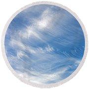 Sky Paintings IIi Round Beach Towel