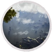 Sky Reflections Round Beach Towel