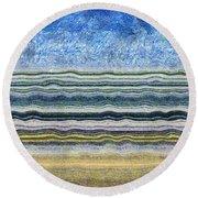 Sky Water Earth 2 Round Beach Towel