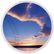 Sky Wonders Round Beach Towel