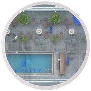 Skycity Pool Round Beach Towel