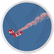 Skydivers #01 Round Beach Towel