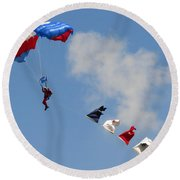 Skydivers #02 Round Beach Towel