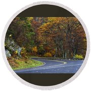 Skyline Drive Round Beach Towel