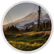 Skyline Meadows Sunstar Round Beach Towel