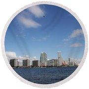 Skyline Miami Round Beach Towel