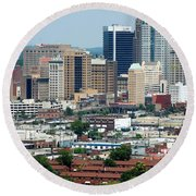 Skyline Of Birmingham Round Beach Towel
