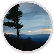 Skyline3 Round Beach Towel