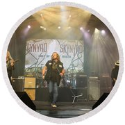Skynyrd-group-7063 Round Beach Towel
