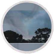 Skyscape - Full Blown Tornado Round Beach Towel