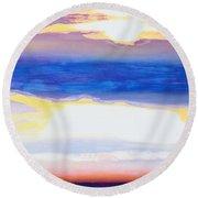 Skyscape Round Beach Towel