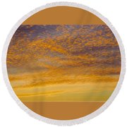 Skyscape - Rocky Gold Round Beach Towel