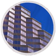 Skyscraper Photography - Downtown - By Sharon Cummings Round Beach Towel
