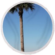 Sunshine Skyway Bridge  Round Beach Towel