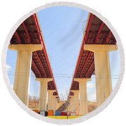 Skyway Highway Round Beach Towel