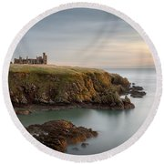 Slains Castle Sunrise Round Beach Towel