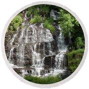 Slatebrook Falls Round Beach Towel