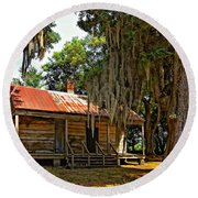 Slave Quarters Round Beach Towel by Steve Harrington
