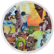 Slave Women Round Beach Towel