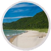 Sleeping Bear Dunes National Lakeshore Round Beach Towel