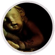 Sleeping Cherub #2 Round Beach Towel
