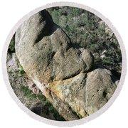 1b6434-sleeping Giant Rock Round Beach Towel