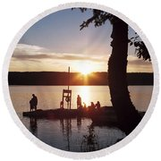 Sleeping Giant Sunset Round Beach Towel