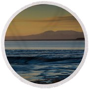 Sleeping Lady Round Beach Towel