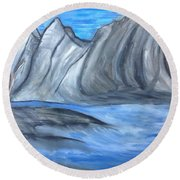 Sleepy Mountain Round Beach Towel