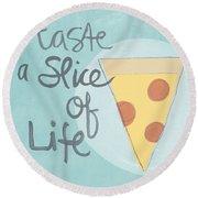 Slice Of Life Round Beach Towel