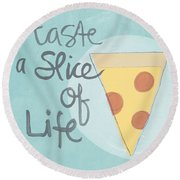 Slice Of Life Round Beach Towel