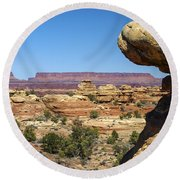 Slickrock Canyon Trail View Round Beach Towel