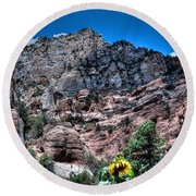 Slide Rock Canyon Round Beach Towel