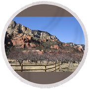 Slide Rock Round Beach Towel