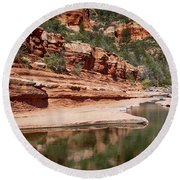 Slide Rock State Park Round Beach Towel