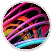 Slinky Craze 2 Round Beach Towel