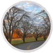 Sloan Park Sunset Round Beach Towel