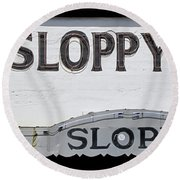 Sloppy Joes Key West Round Beach Towel