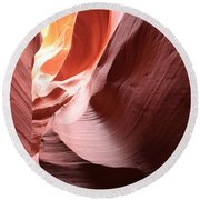 Slot Canyon Color Blend Round Beach Towel