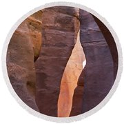 Slot In Palo Duro Canyon 110213.61 Round Beach Towel