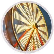 Slow Down The Ferris Wheel Round Beach Towel