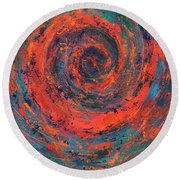 Slow Temporal Repeat Round Beach Towel